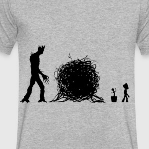 groot story - Men's V-Neck T-Shirt by Canvas