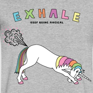 Down Dog Unicorn Exhale Outline - Men's V-Neck T-Shirt by Canvas