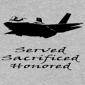 Airforce Served Sacrificed Honored - Men's V-Neck T-Shirt by Canvas