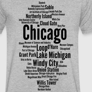 Chicago (Windy City; Illinois, USA) - Men's V-Neck T-Shirt by Canvas