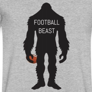 Football Beast - Men's V-Neck T-Shirt by Canvas