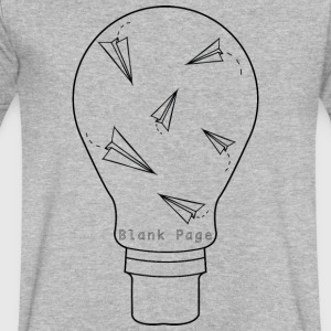 Blank Page Lightbulb - Men's V-Neck T-Shirt by Canvas