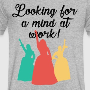 Looking for a mind at work! - Men's V-Neck T-Shirt by Canvas