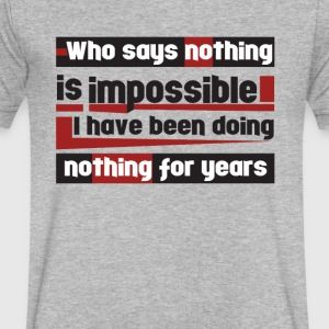 Nothing is impossible - Men's V-Neck T-Shirt by Canvas
