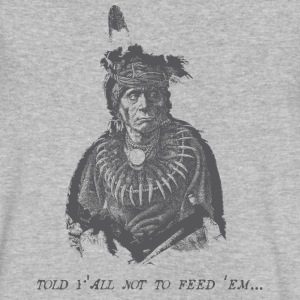 Vintage Native American (Don't Feed Em) - Men's V-Neck T-Shirt by Canvas