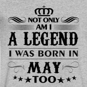 May month Legends tshirts - Men's V-Neck T-Shirt by Canvas