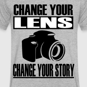 Change your lens - Men's V-Neck T-Shirt by Canvas