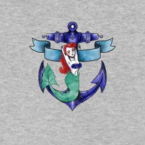 mermaid fee water sea ocean anchor armature - Men's V-Neck T-Shirt by Canvas