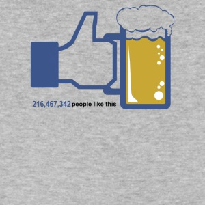 Facebook Parody Beer - Men's V-Neck T-Shirt by Canvas