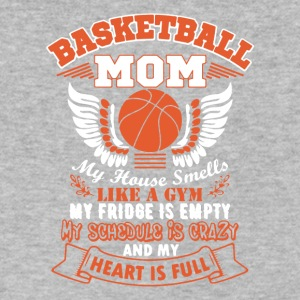 Basketball Mom Tee Shirts Heart - Men's V-Neck T-Shirt by Canvas