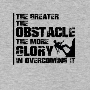 The greater the obstacle T-shirt design - Men's V-Neck T-Shirt by Canvas