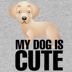 My_dog_is_cute_2 - Men's V-Neck T-Shirt by Canvas
