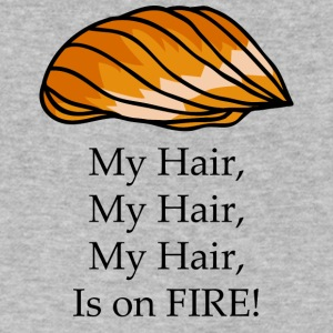 Trump , My Hair , Is on FIRE | Funny Trump T-Shirt - Men's V-Neck T-Shirt by Canvas