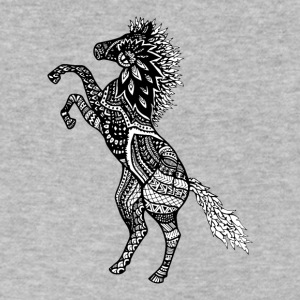 Rearing Horse Zentangle (abstract doodle) - Men's V-Neck T-Shirt by Canvas