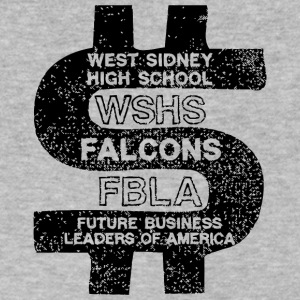 West Sidney High School WSHS Falcons FBLA - Men's V-Neck T-Shirt by Canvas
