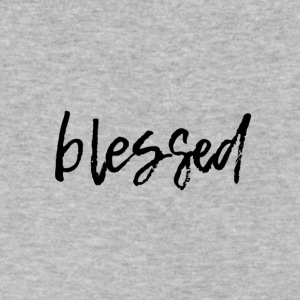 blessed - Men's V-Neck T-Shirt by Canvas