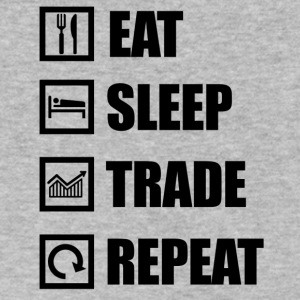 eat sleep repeat - Men's V-Neck T-Shirt by Canvas