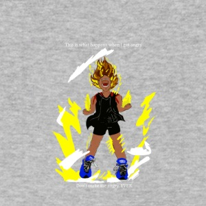 I turn Super Saiyan when I'm angry! - Men's V-Neck T-Shirt by Canvas
