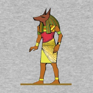 Ancient Egyptian Painting - Anubis, the Wolf God - Men's V-Neck T-Shirt by Canvas