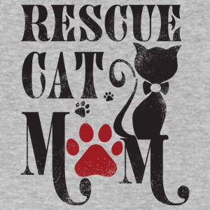 Rescue Cat Mom T Shirt - Men's V-Neck T-Shirt by Canvas