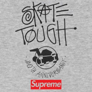 Surpreme x Stusy 30th Anniversary - Men's V-Neck T-Shirt by Canvas
