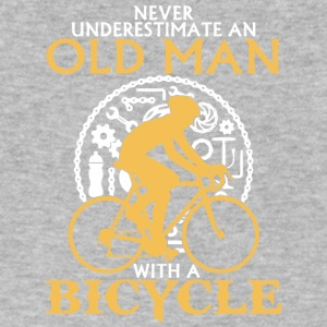 An Old Man With A Bicycle T Shirt - Men's V-Neck T-Shirt by Canvas