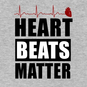heart beats matter! - Men's V-Neck T-Shirt by Canvas