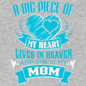 Big Piece Of My Heart Lives In Heaven Mom T Shirt - Men's V-Neck T-Shirt by Canvas
