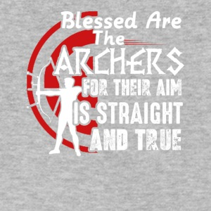 Blessed Are The Archer Tee Shirt - Men's V-Neck T-Shirt by Canvas
