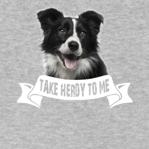 Border Collie Talk Herdy To Me Tee Shirt - Men's V-Neck T-Shirt by Canvas