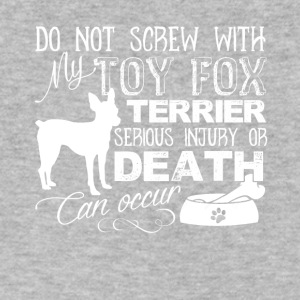 Screw With Toy Fox Terrier Shirt - Men's V-Neck T-Shirt by Canvas