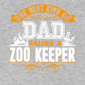 The Best Kind Of Dad Raises A Zoo Keeper Shirt - Men's V-Neck T-Shirt by Canvas