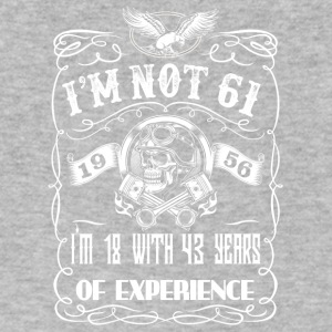 I'm not 61 1956 I'm 18 with 43 years of experience - Men's V-Neck T-Shirt by Canvas