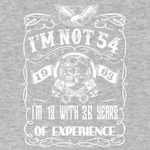I'm not 54 1963 I'm 18 with 36 years of experience - Men's V-Neck T-Shirt by Canvas