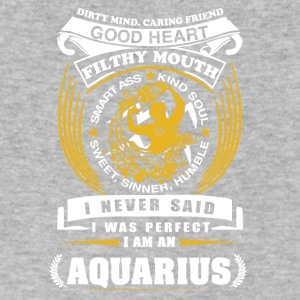 I never said I was perfect I am a aquarius - Men's V-Neck T-Shirt by Canvas