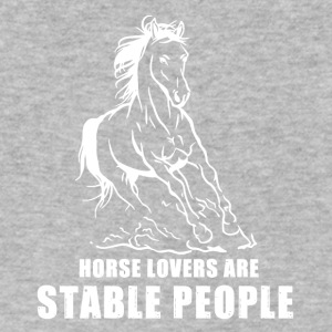 HORSE LOVERS ARE STABLE PEOPLE - Men's V-Neck T-Shirt by Canvas
