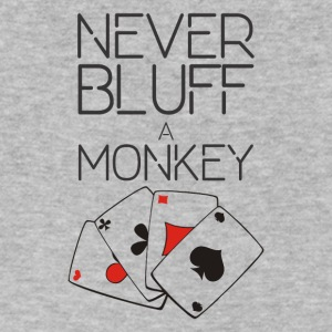 NEVER BLUFF A MONKEY - Men's V-Neck T-Shirt by Canvas