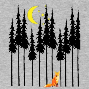 IMG 3018 fox in woods - Men's V-Neck T-Shirt by Canvas