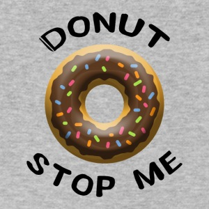 donut stop me - Men's V-Neck T-Shirt by Canvas