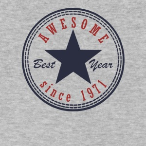 46th Birthday Awesome since T Shirt Made in 1971 - Men's V-Neck T-Shirt by Canvas