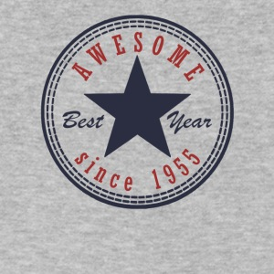 62nd Birthday Awesome since T Shirt Made in 1955 - Men's V-Neck T-Shirt by Canvas