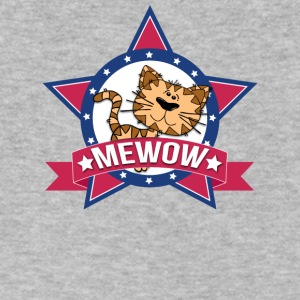 Funny Cat MeWOW Kitten Design - Men's V-Neck T-Shirt by Canvas
