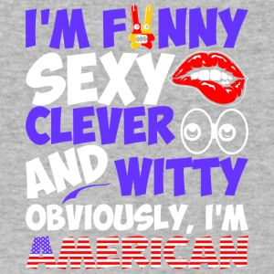 Im Funny Sexy Clever And Witty Im American - Men's V-Neck T-Shirt by Canvas