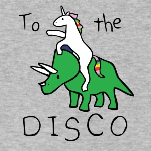 Unicorn Disco Jump - Men's V-Neck T-Shirt by Canvas