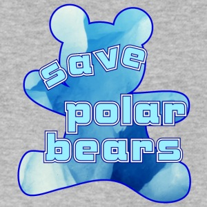 save polar bears - Men's V-Neck T-Shirt by Canvas
