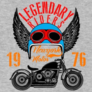 motorcycle legendary riders NewYork inscription - Men's V-Neck T-Shirt by Canvas