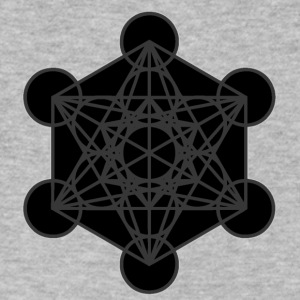 Metatron's Cube - Men's V-Neck T-Shirt by Canvas