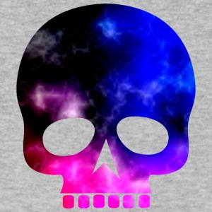 Skull in Cosmic Colors - Men's V-Neck T-Shirt by Canvas