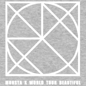 Monsta X Beautiful - Men's V-Neck T-Shirt by Canvas