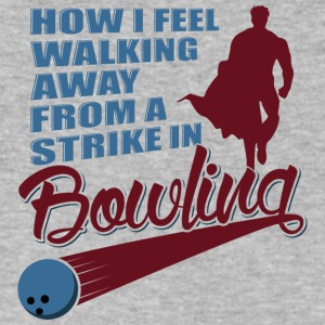 How I feel walking away from a strike in bowling - Men's V-Neck T-Shirt by Canvas